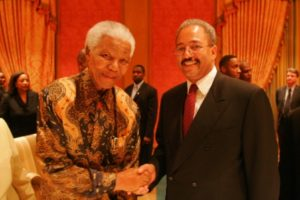 Nelson Mandela with Rep. Chaka Fattah